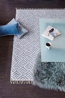 Teppich Grau 140x200 - teppich palm 140x200 cm eisblau grau liv interior