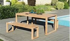Ensemble De Jardin Table Avec Banc En Teck Massif Lombock