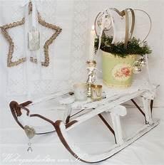 Vintage Weihnachtsdeko Schlitten Shabby Chic Deko
