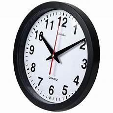 White Black Quartz Silent Clock Wall by Stylish Black White Bold Classic Quartz Wall Clock Non