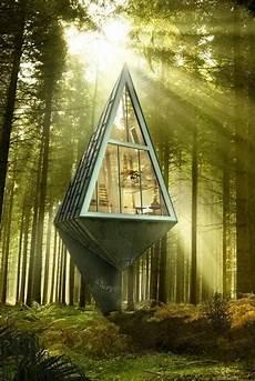 Tree Inspired Pyramid House Design Blending Eco Friendly Ideas Look tree inspired pyramid house design blending eco friendly