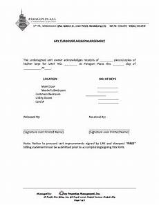 key turnover acknowledgement fill online printable fillable blank pdffiller