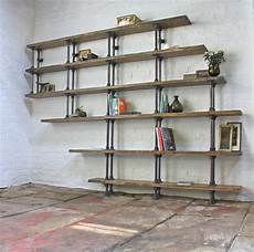 emilie asymmetric reclaimed scaffolding shelves by