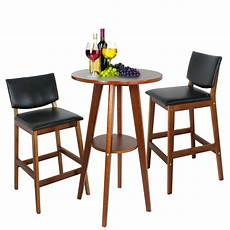 Dining Table With Stools by Pub Table Set 3 Bar Stools Dining Kitchen Furniture