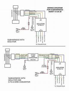 eight molex plug n play motorcycle trailer wiring sub harness rivco