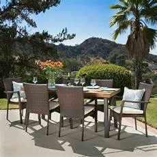 outdoor dining furniture castlelake 7 outdoor dining set wood table w
