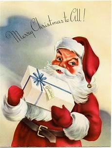 vintage santa greeting card free graphics old design shop blog