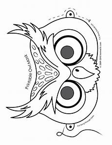 owl mask coloring page woo jr activities