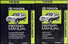 free auto repair manuals 1998 toyota land cruiser 1998 toyota land cruiser repair shop manual 2 volume set original