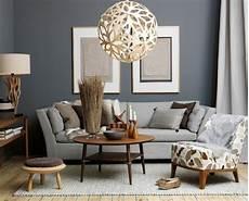 Wandfarbe Grau Sofa Design Kleiner Kaffeetisch Home