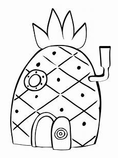 Mewarnai Gambar Rumah Spongebob Contoh Anak Paud