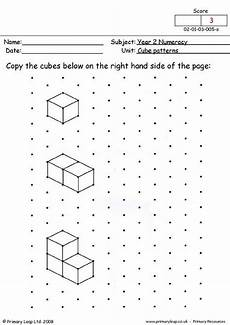 primaryleap co uk cube patterns 1 worksheet in 2019 cube pattern isometric drawing math art