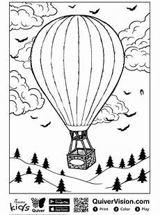 n maak persoonlijke kleurplaat luchtballon