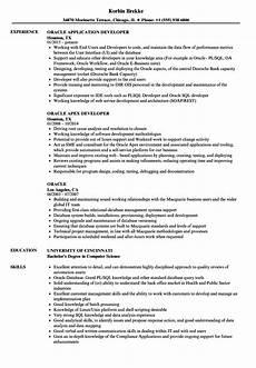 oracle resume sles velvet