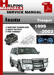 book repair manual 1999 isuzu trooper transmission control isuzu trooper 1999 2002 service repair manual download tradebit