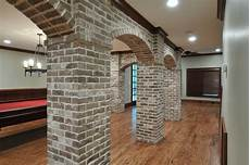 homebase for kitchens furniture garden decorating basement with brick arches traditional family room