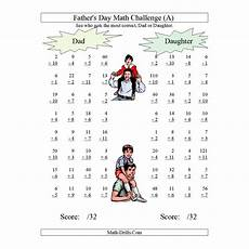 multiplication worksheets dads 4363 new today s day math worksheet and challenge all operations range 1