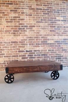 Factory Cart Coffee Table Diy