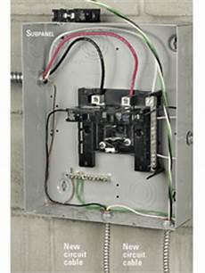 installing an electrical subpanel how to install appliances new circuits home