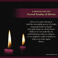 prayer for the second sunday of advent advent prayers