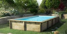 piscine hors sol en bois cerland 171 weva 187 rectangulaire de