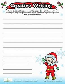 christmas writing prompt worksheet education com