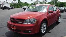 2013 dodge avenger sxt sedan red for sale dayton troy