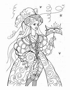 detailed princess coloring pages getcoloringpages