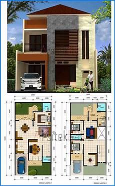 Denah Rumah Minimalis 2 Lantai Autocad Huniankini