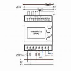 smartrail x835 mid multi function power meter pulse modbus comms
