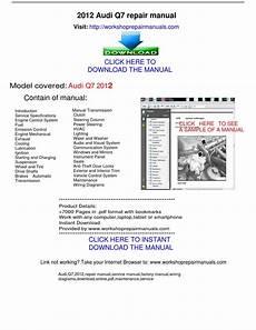 free auto repair manuals 2012 audi q7 electronic throttle control audi q7 2012 repair manual by repairmanuals issuu