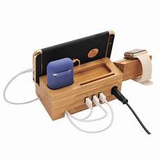 Puluz Pu381 Charging Dock Base Charger by Smartphone Wood Charging Dock Station Stand For Iphone