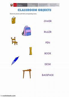 worksheets classroom objects 18220 classroom objects interactive worksheet