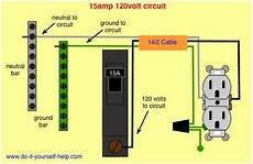 wiring diagram 15 circuit breaker 120 volt circuit diy house pinterest
