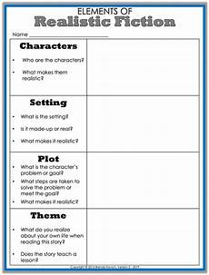 writing fiction worksheets 22272 teaching realistic fiction with reading activities for enjoy teaching