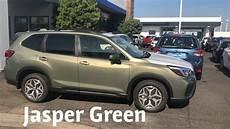 subaru forester 2019 green shoot jasper green and horizon blue 2019 forester colors