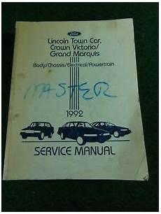 vehicle repair manual 1992 mercury grand marquis on board diagnostic system 1992 lincoln town car ford crown victoria mercury grand marquis service manual ebay