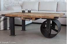 Table Basse Industrielle 224 Roue Barak 7 Table