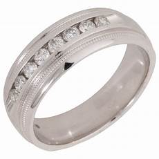 pre owned 14ct white gold 0 36 carat diamond wedding ring