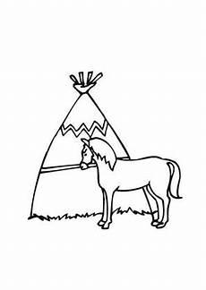 Ausmalbild Indianer Pferd Ausmalbild Indianer Pferd Zum Ausmalen Ausmalbilder