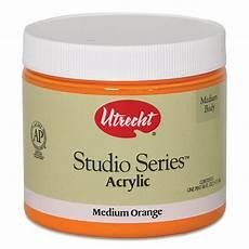 utrecht studio series acrylic paint medium orange pint