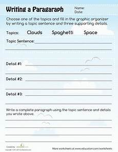 paragraph writing worksheet education com