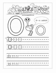 letter o tracing worksheets preschool 23921 free handwriting worksheets for the alphabet