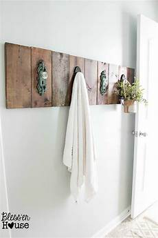bathroom towel hook ideas modern farmhouse bathroom makeover reveal