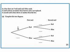 probability worksheet igcse 5803 probability tree diagram igcse at mathematics realm