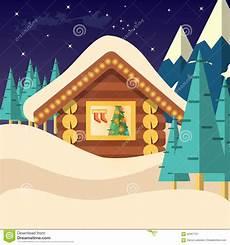 Malvorlagen Weihnachtsmann Haus Weihnachtsabends Hintergrundvektorillustration Mit Haus
