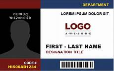 id card template in excel free employee identification card templates ms word word