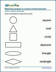 worksheets about shapes for grade 1 1029 names of shapes worksheets k5 learning