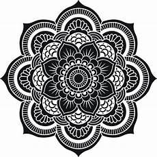 Mandala Blumen - flower of sacred geometry mandala decorative stencil
