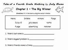 tales of a fourth grade nothing printable handout chapter 1 teaching resources